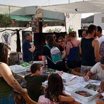 Taller sobre libélulas en Vícar en «Paseando entre velas 2019»